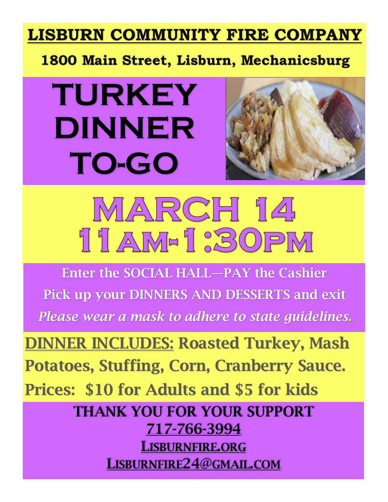 MARCH turkey dinner-to go 2021