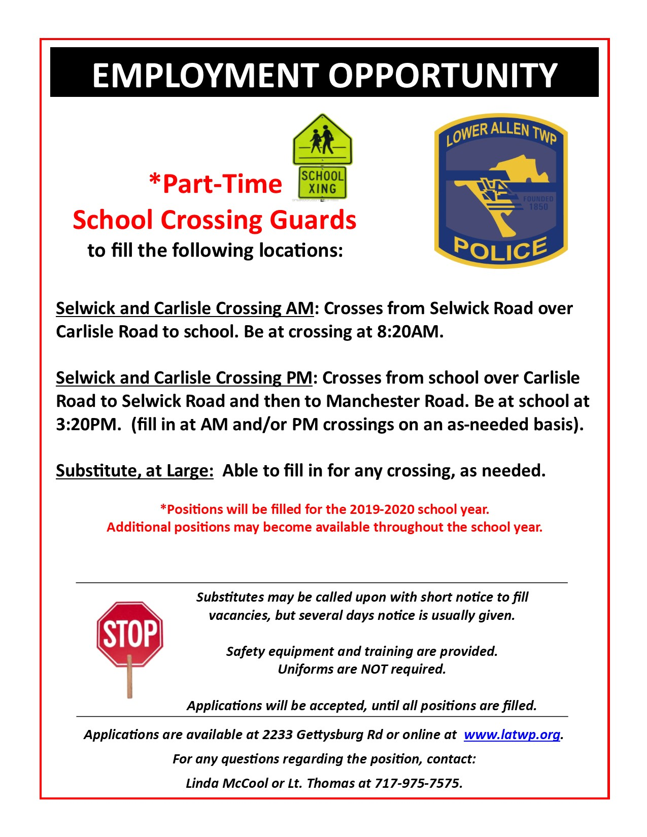 crossing guard ad